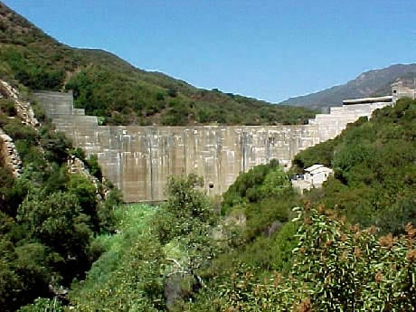 Matilija Dam on the Ventura River