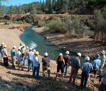 Trinity River managers and stakeholders tour the Lower Junction City restoration site