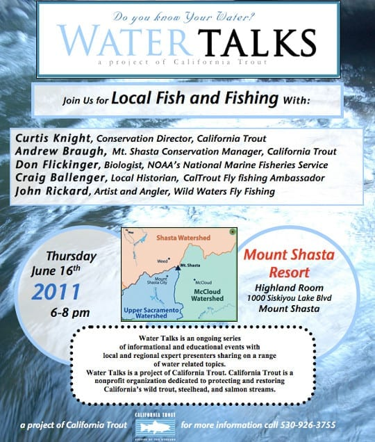 CalTrout Fish and Fishing Water Talks