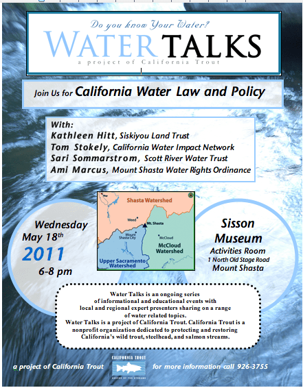 May 18th Water Talks
