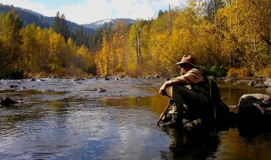 Fall fly fishing in California
