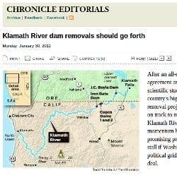 Klamath River Dam Removal in the SF Chronicle