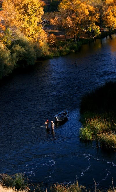 Fly fishermen on the Klamath River