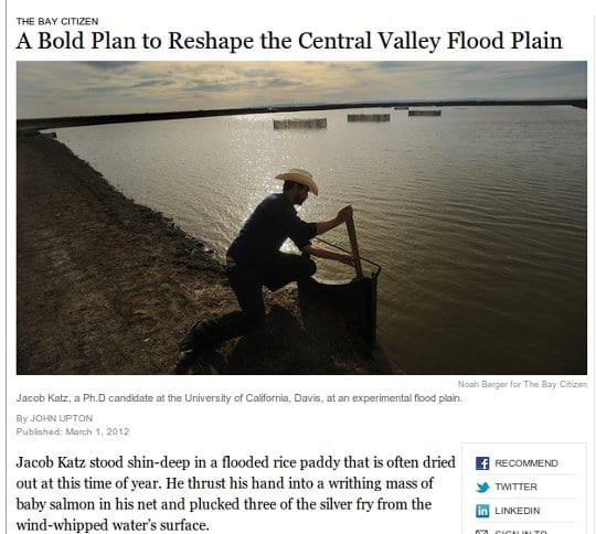 New York Times/California's floodplains story