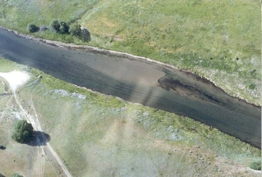 Carbon Bridge sediment plug, 1991