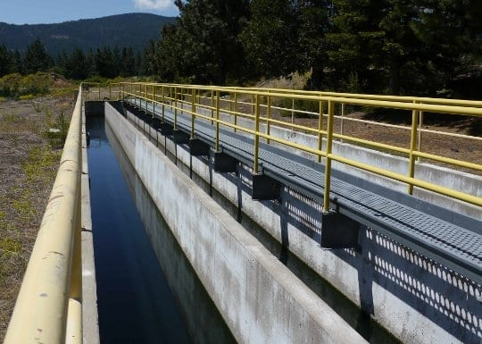 Mt. Shasta wastewater treatment plant