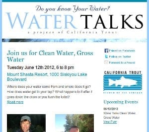 Water Talks email
