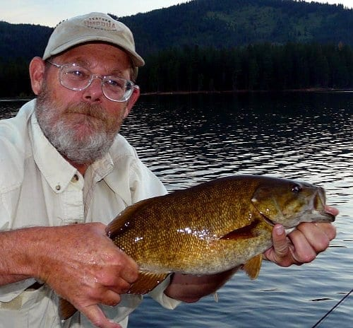 Steve Bertrand with a warmwater smallmouth