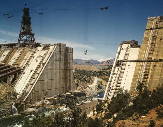 Shasta Dam Under Construction