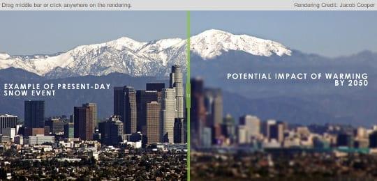 LA snow loss