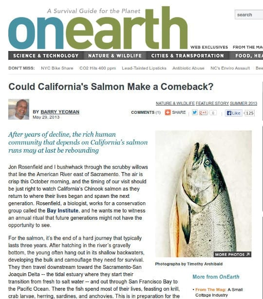 What's the cost of losing California's salmon?