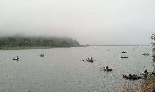 First day of Yurok fishing season, Klamath