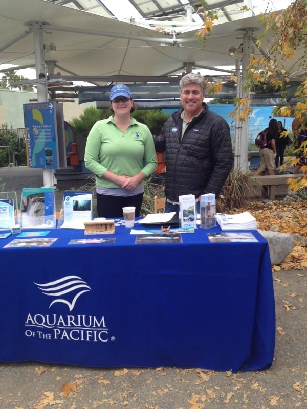 CalTrout's Kurt Zimmerman and NOAA Coordinator, Reni L. Rydlewicz, on hand at the exhibit.