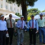 CalTrout's Conservation Director Curtis Knight, Assemblyman Dahle, Senator Berryhill, Senator Huff, and TU's Sam Davidson