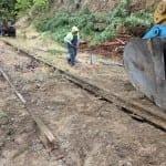 Train track removal