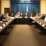 Tuesday's meeting with the Governor. CalTrout's Curtis Knight seated far left